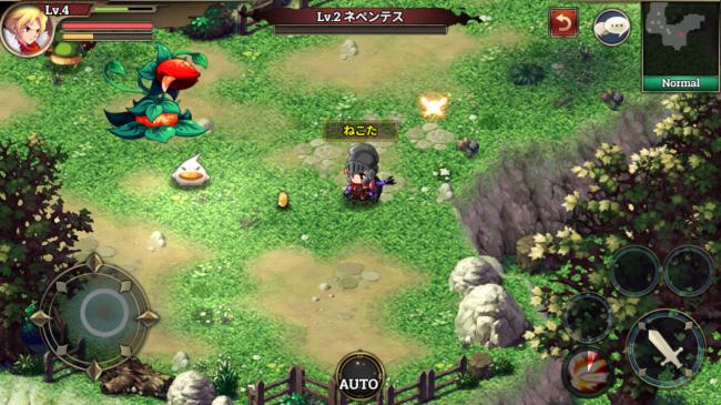 最近では2DのアクションRPGは貴重かも。かわいく動きます。