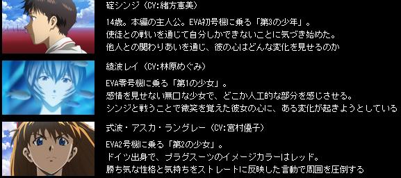 ヱヴァンゲリヲン新劇場版:破(出展:http://www.evangelion.co.jp/2_0/chara.html)