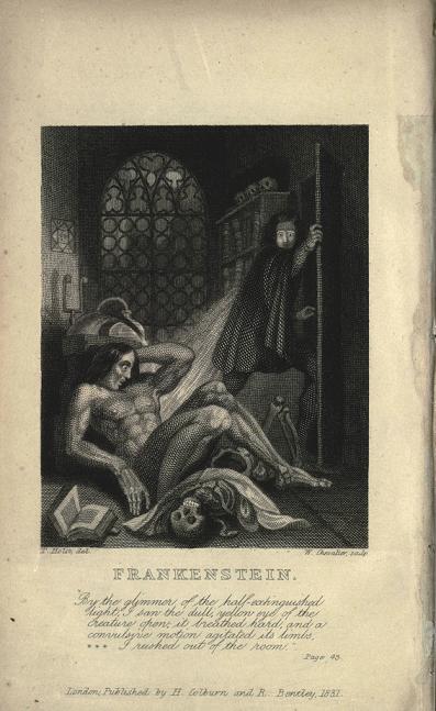 『フランケンシュタイン』(1831年出版)の内表紙 画像出典:https://ja.wikipedia.org/wiki/フランケンシュタイン