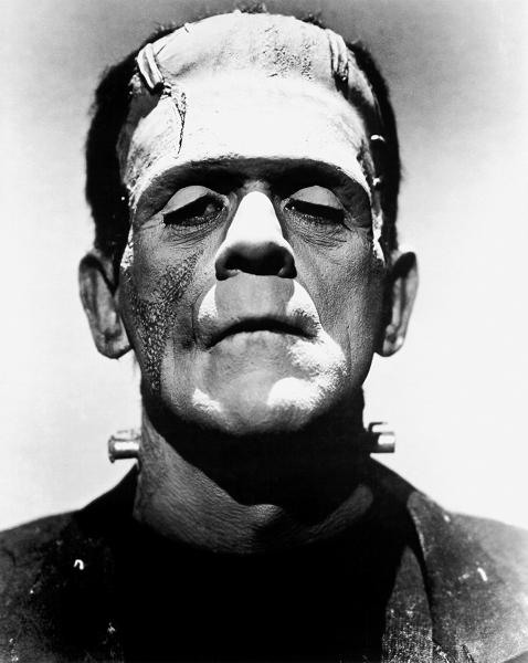 1931年映画版のフランケンシュタインの怪物(演:ボリス・カーロフ) 画像出典:https://ja.wikipedia.org/wiki/フランケンシュタイン
