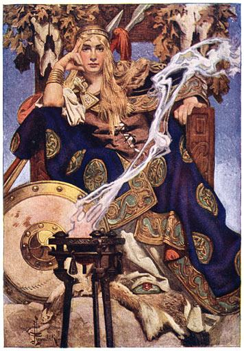J. C. Leyendecker が描いたメイヴ(1911年) 画像出典:https://ja.wikipedia.org/wiki/メイヴ
