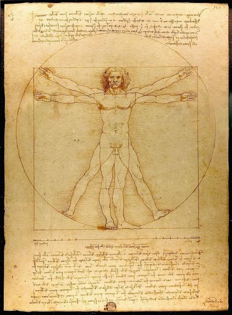 『ウィトルウィウス的人体図』 画像出典:https://ja.wikipedia.org/wiki/レオナルド・ダ・ヴィンチ