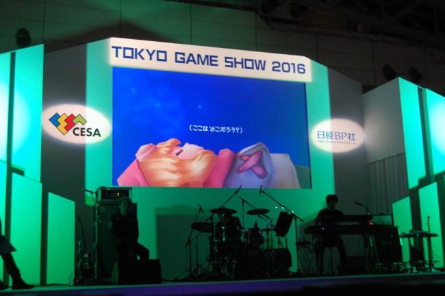 ステージでは「エグリア~赤いぼうしの伝説~」のPVが公開された。
