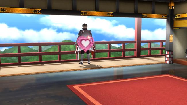 こちらはうって変わって、和室に織田信長が登場!