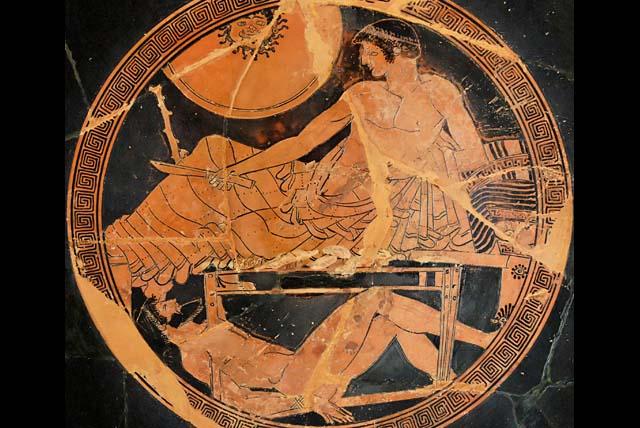 『ヘクトールの遺体を留め置くアキレウス』 画像出典:http://www.gregorius.jp/presentation/page_35.html