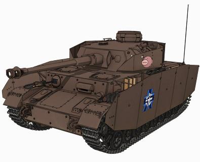 Ⅳ号戦車D型改(H型仕様)(あんこうチーム) 画像出典:http://girls-und-panzer.jp/