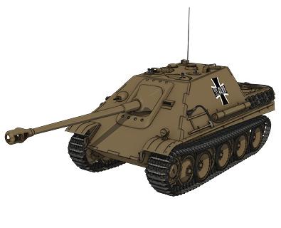 駆逐戦車ヤークトパンター(黒森峰学園) 画像出典:http://girls-und-panzer.jp/