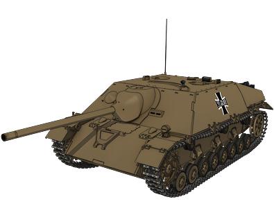 Ⅳ号駆逐戦車/70(V)ラング(黒森峰学園) 画像出典:http://girls-und-panzer.jp/