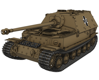 重駆逐戦車エレファント(黒森峰学園) 画像出典:http://girls-und-panzer.jp/