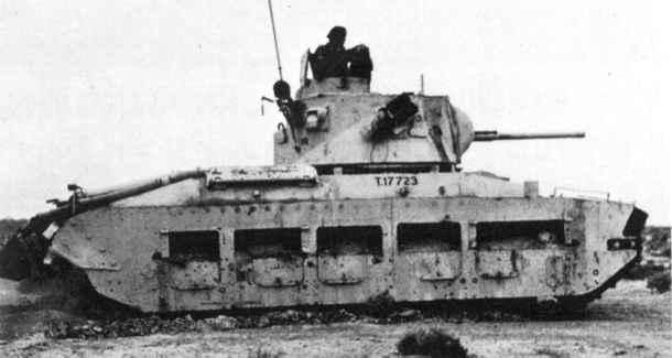 歩兵戦車Mk.II マチルダII 画像出典:http://military.sakura.ne.jp/army/uk_it-mk2.htm