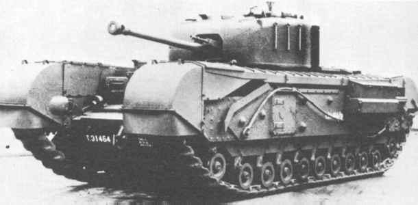 歩兵戦車Mk.IV チャーチル 画像出典:http://military.sakura.ne.jp/army/uk_it-mk4.htm