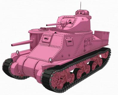 M3中戦車リー(ウサギさんチーム) 画像出典:http://girls-und-panzer.jp/mecha_m3.html