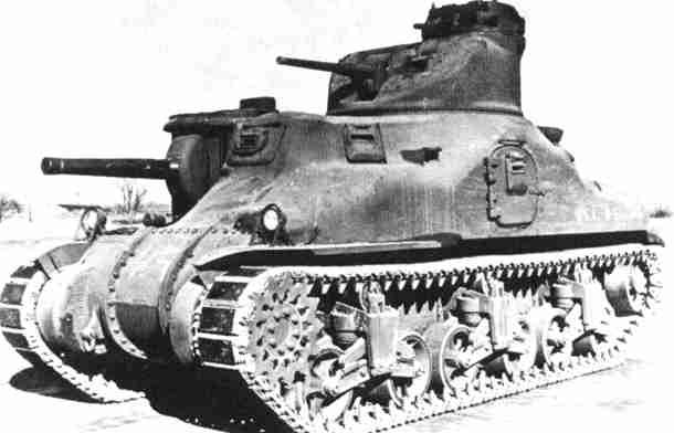 M3中戦車リー 画像出典:http://military.sakura.ne.jp/army/us_mt-m3.htm
