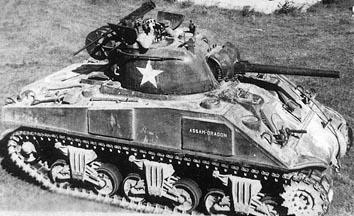 M4シャーマン中戦車 画像出典:http://combat1.sakura.ne.jp/M4.htm