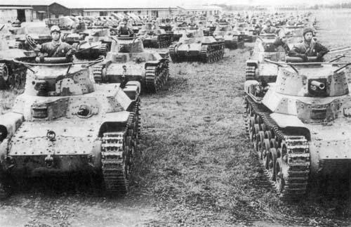 九七式中戦車 チハ 画像出典:http://www.luzinde.com/meisaku/tanks/chi-ha.html