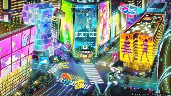 ▲歩さんの描く未来の渋谷のスクランブル交差点