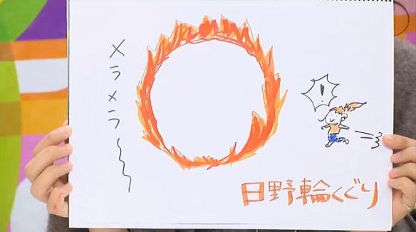 赤﨑千夏(日野茜役)考案「日野輪くぐり」