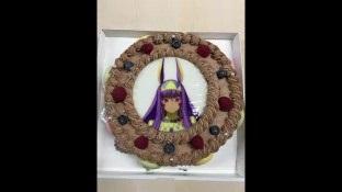 田中美海さんのバースデーケーキはニトクリスのチョコケーキ!