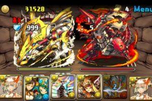ダンジョン「火と光の機甲龍」のボスに挑戦。