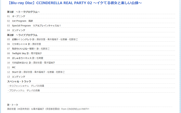 CINDERELLA REAL PARTY 03