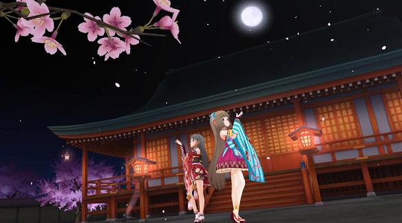 MV:夜桜と満月