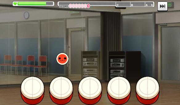 リズムアイコン変更時のプレイ画面