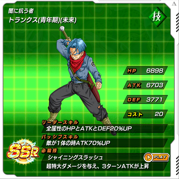 【ドッカンバトル】Lv.MAXの技属性超強力キャラを手に入れよう!!