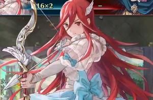 りりしく弓を構える「完全無欠の花嫁 ティアモ」!