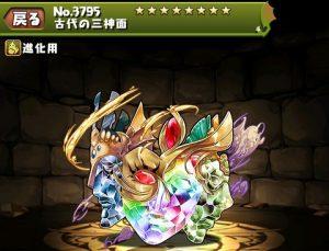古代の三神面