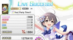 Yes! Party Time!!にてトロフィー/金