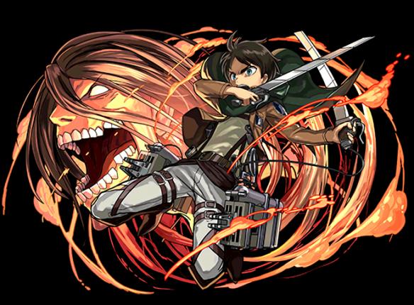進撃の巨人コラボのエレンです。コンボ強化を2個持った、かなり優秀な性能になっています。