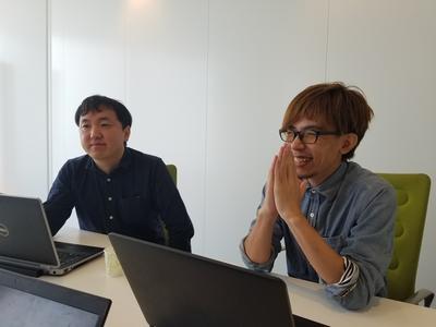studio Zのお二人。左が保泉氏。右が臼井氏。