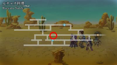 ルチャナ砂漠マップ