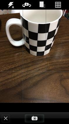 グリッド線が表示されて撮影しやすい!