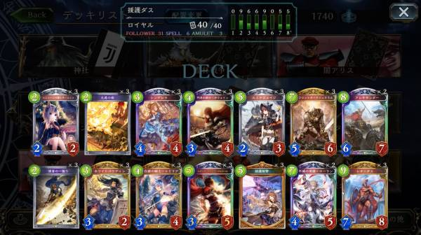 援護射撃×レオニダスロイヤルデッキレシピ