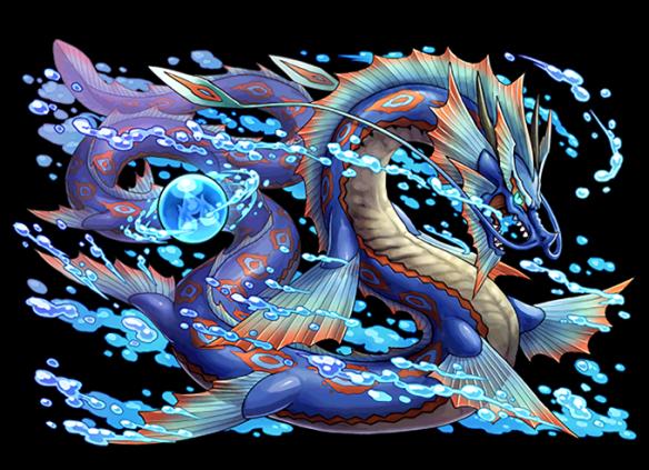 水の宝珠龍・センジャです。初ターンの攻撃力が強く対策が必要になる場合があります。