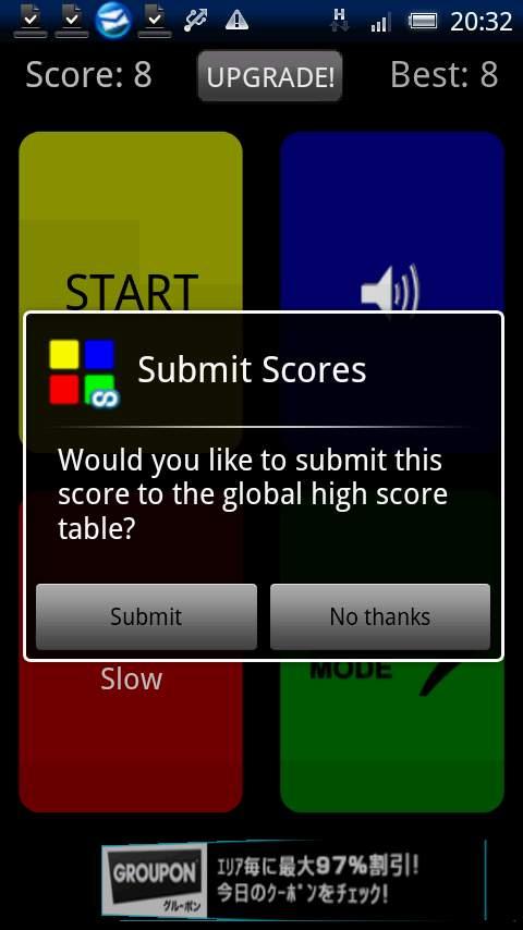 クラシックサイモン androidアプリスクリーンショット2