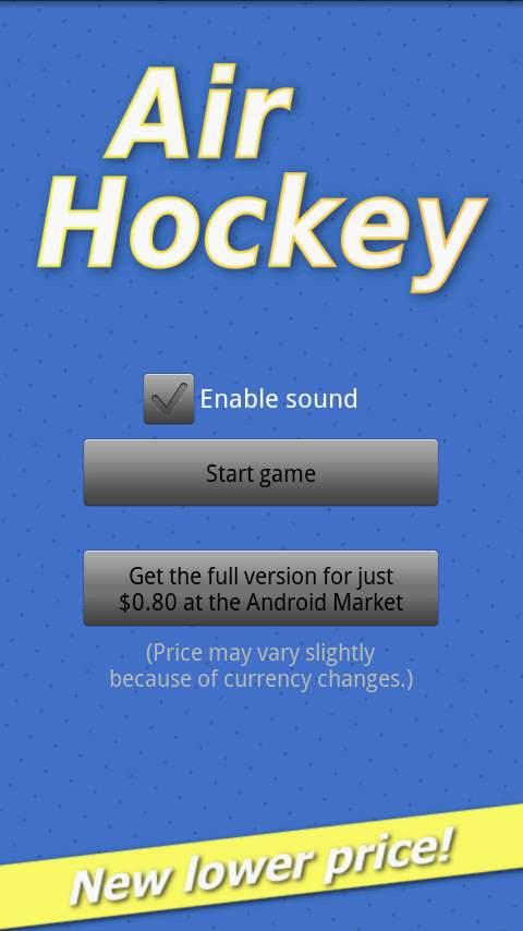 エアホッケーデモ androidアプリスクリーンショット3