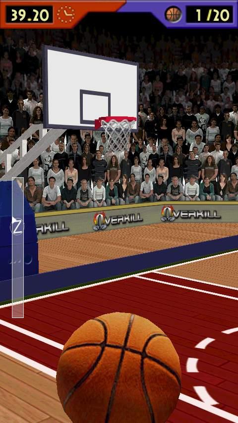 バスケットボール ショット 3D androidアプリスクリーンショット1