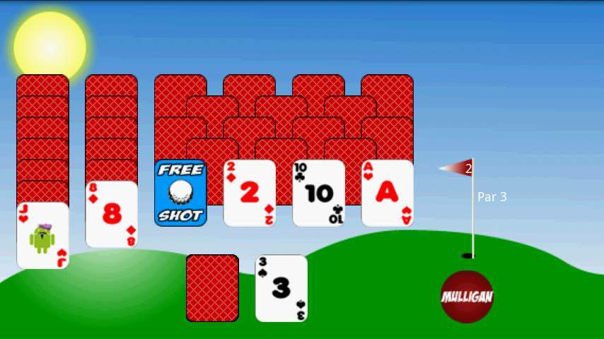 ゴルフソリティア フリー androidアプリスクリーンショット1