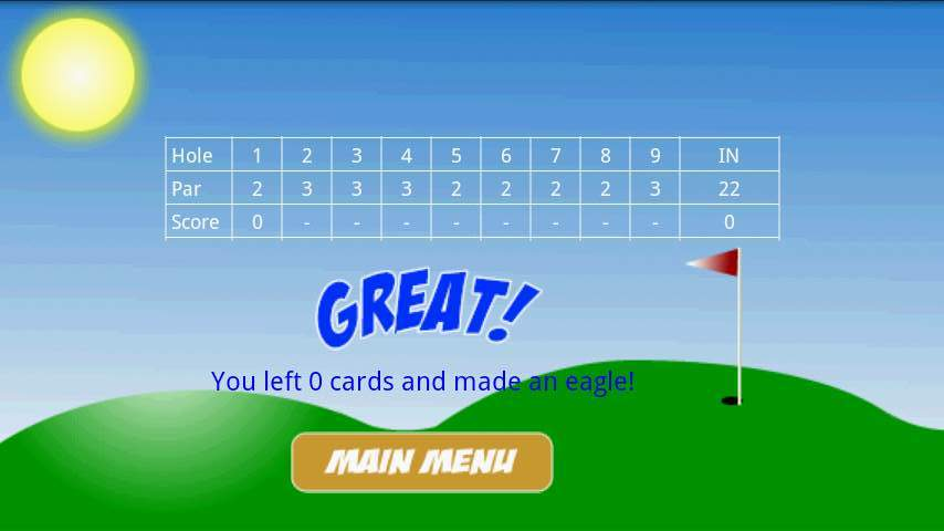 ゴルフソリティア フリー androidアプリスクリーンショット2