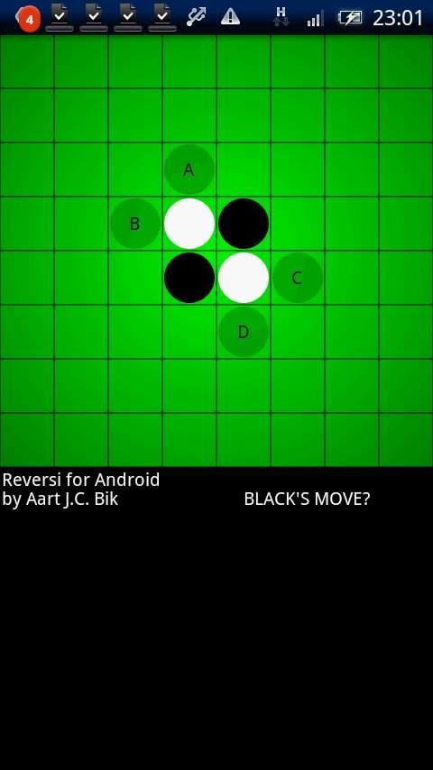リバーシ フォー アンドロイド androidアプリスクリーンショット1
