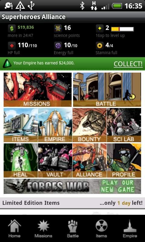 スーパーヒーローズ アライアンス androidアプリスクリーンショット1