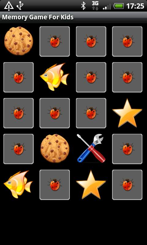 メモリー ゲーム フォー キッズ androidアプリスクリーンショット1
