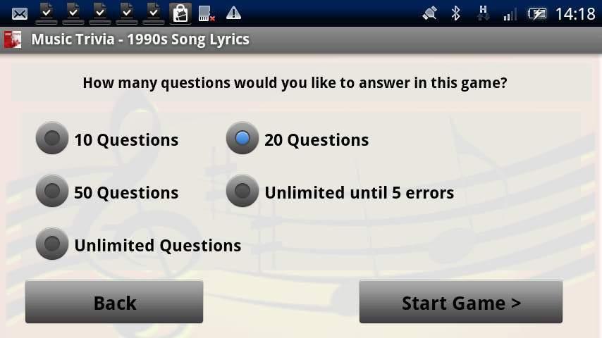 ソングリリックストライバル-1990年 androidアプリスクリーンショット3