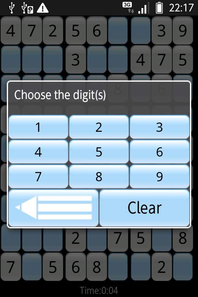 数独 androidアプリスクリーンショット3
