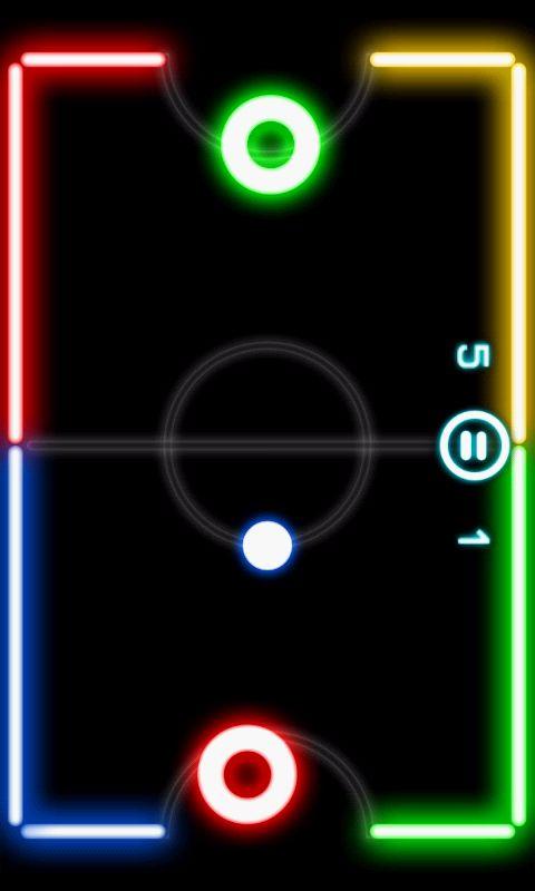 androidアプリ グロウ ホッケー攻略スクリーンショット1