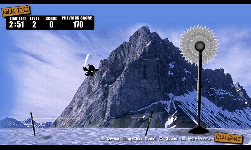 ニンジャトス -スリングショットゲーム androidアプリスクリーンショット1