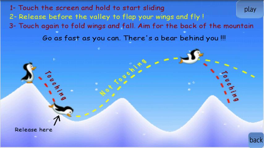 androidアプリ フライングペンギンベストフリーゲーム攻略スクリーンショット1