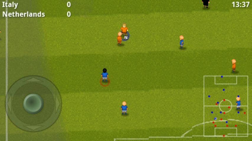 ストライカーサッカー androidアプリスクリーンショット1